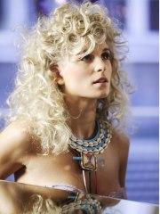 curly long blonde hair