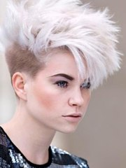 short punk haircut with millimeter
