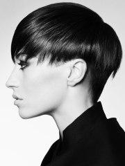 short haircut with long top hair