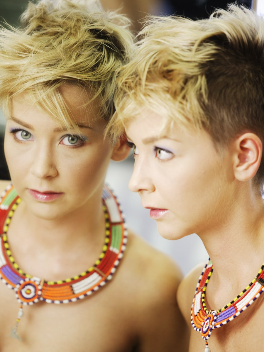 Very Short Haircut For Women With Buzz Cut Sides And A