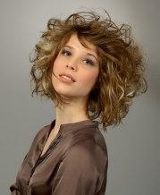 medium long curly hair with wild