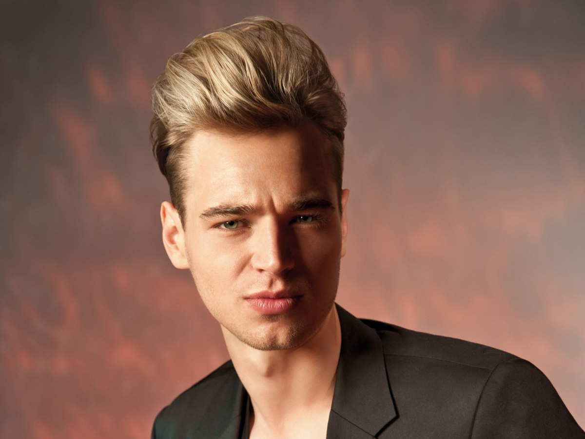Mens Hairstyle For A James Dean Look With A High Combed