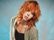 long orange copper hair with lift