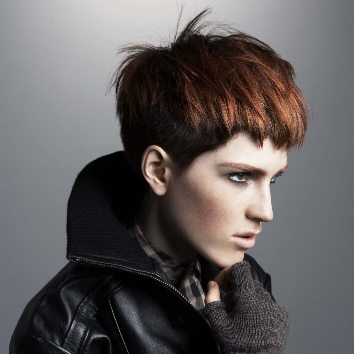 Hair Cropped Short And Graduated In The Back Two Tone