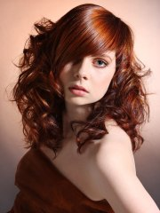 modern long hairstyle with curls