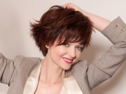 dynamic and youthful short hairstyle
