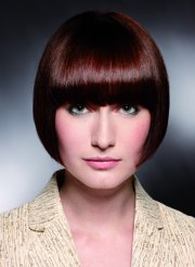 short pageboy cut with bangs