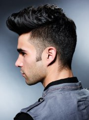 side view of fifties hairstyle