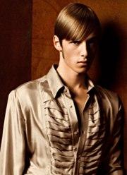 simple sleek hairstyle men