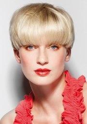 short mushroom haircut covers