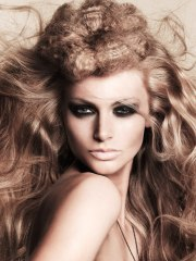 long extravagant hairstyle