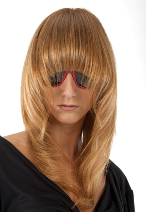 Long Tapered Hair With Long Rounded Bangs