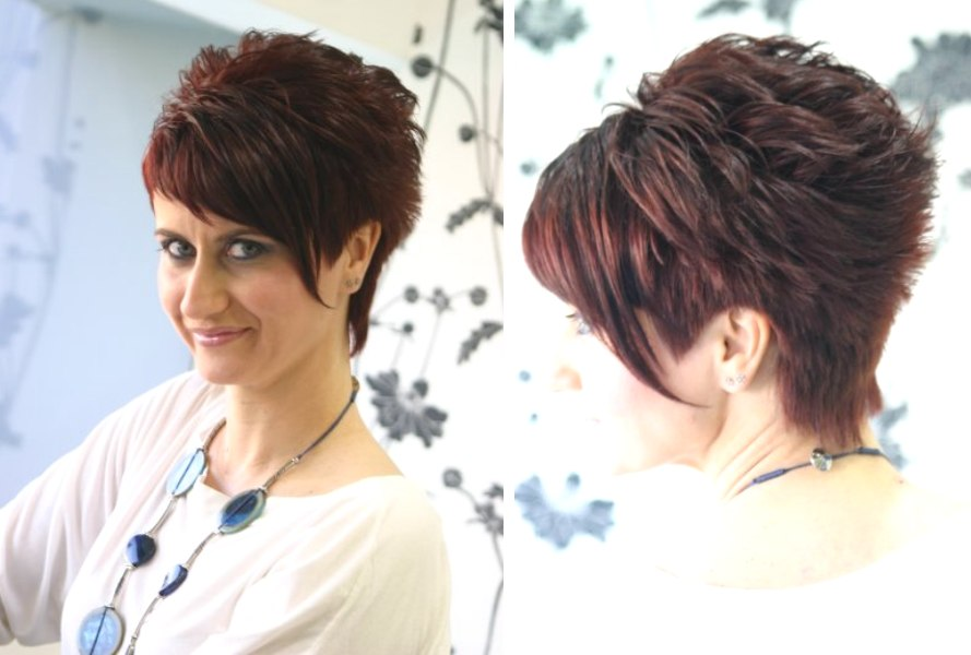 Hairstyle With A Short Clipped Neck And Longer Bangs