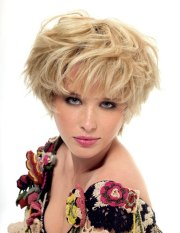 short blonde mop-top hairstyle