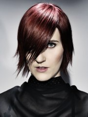 goth inspired short hairstyle