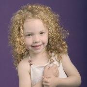 spiraling curls little girl