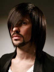 long hair men shoulder length