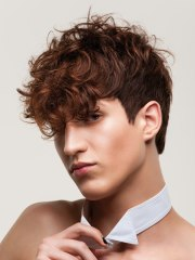 men's haircut with short