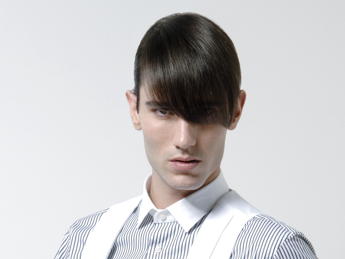 Mens Hair Cropped Super Short And Styled With Pomade