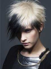 short punk haircut with spikes