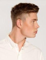 clean retro haircut with short