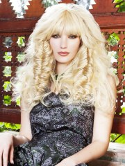 wild long hairstyle with hairpieces