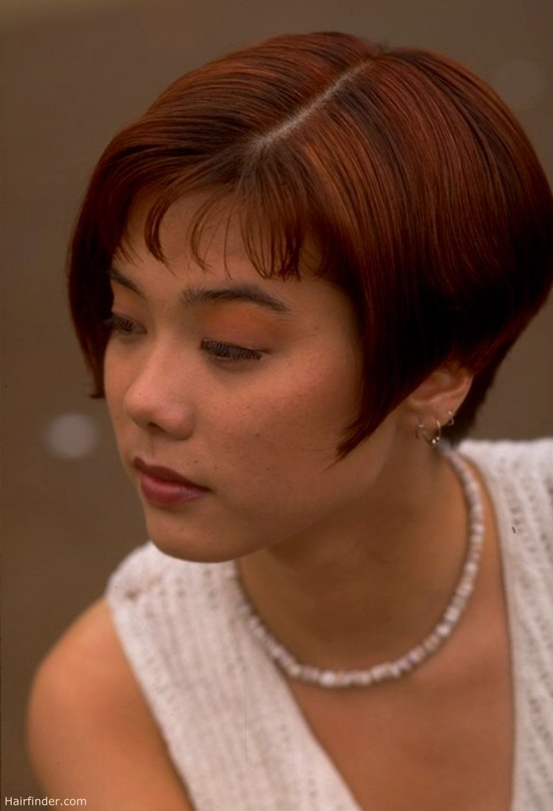 Short Hair Cut Over The Ear And Piecy Bangs