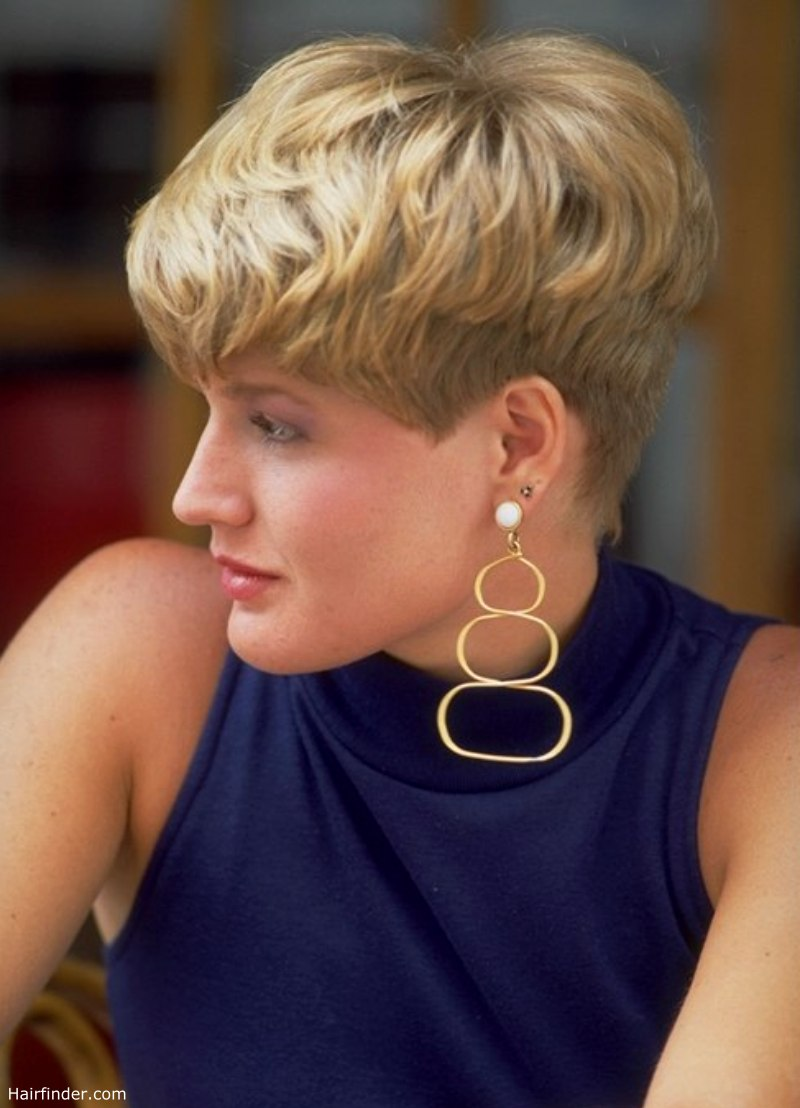 Very Short Haircut With Tapered Nape And Sides