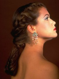 Hairstyle with a fishnet braid