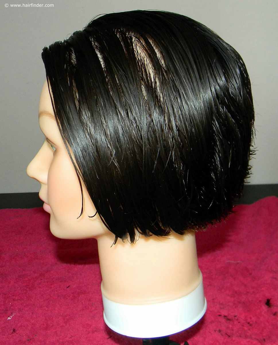 How to cut a short inverted bob or angled bob