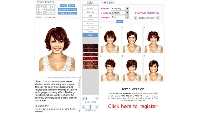 virtual hairstyles - hair imaging app - free makeover software