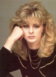 romantic long 1980s hairstyle