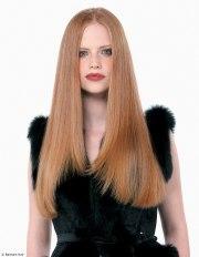 luxurious sleek long hairstyle