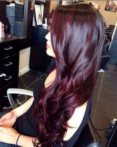 purple red highlights
