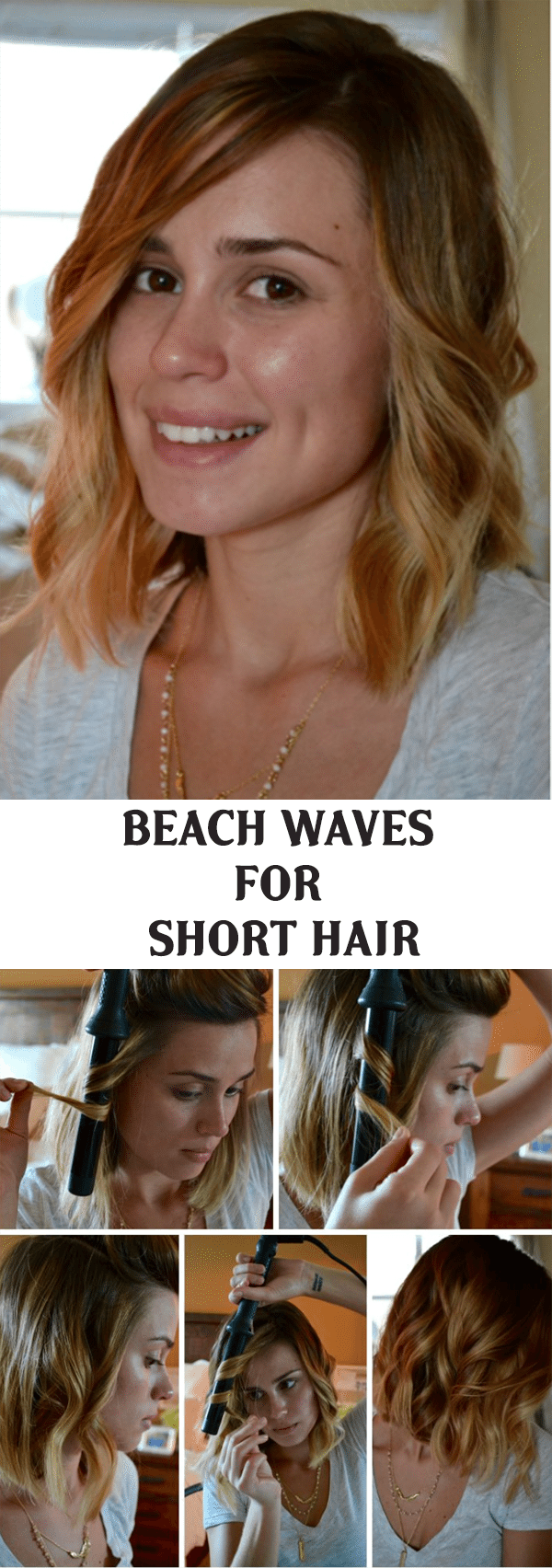 BEACH WAVES HAIRSTYLE FOR SHORT HAIR