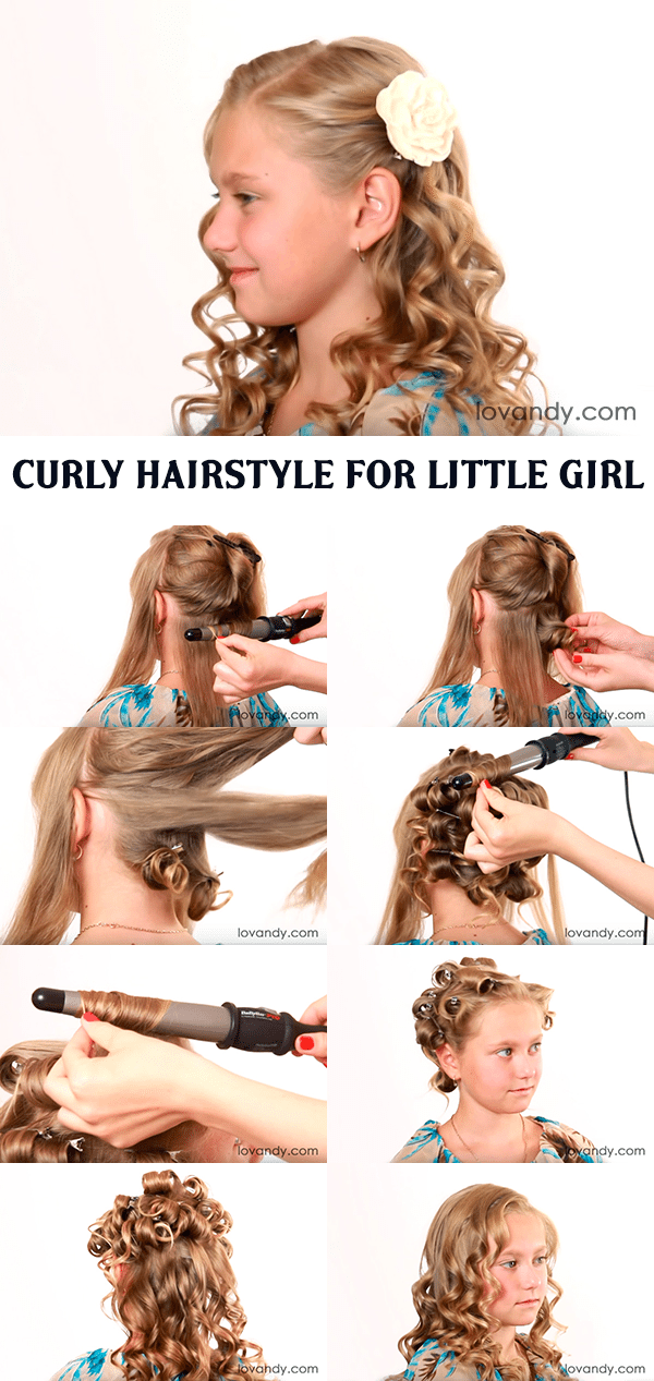 Curly Hairstyle For Little Girl