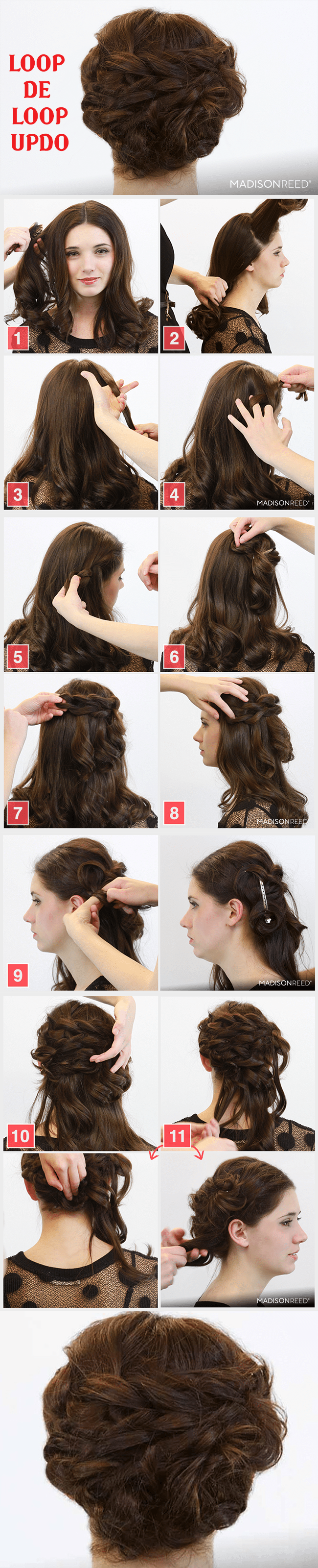 LOOP DE LOOP UPDO HAIRSTYLE
