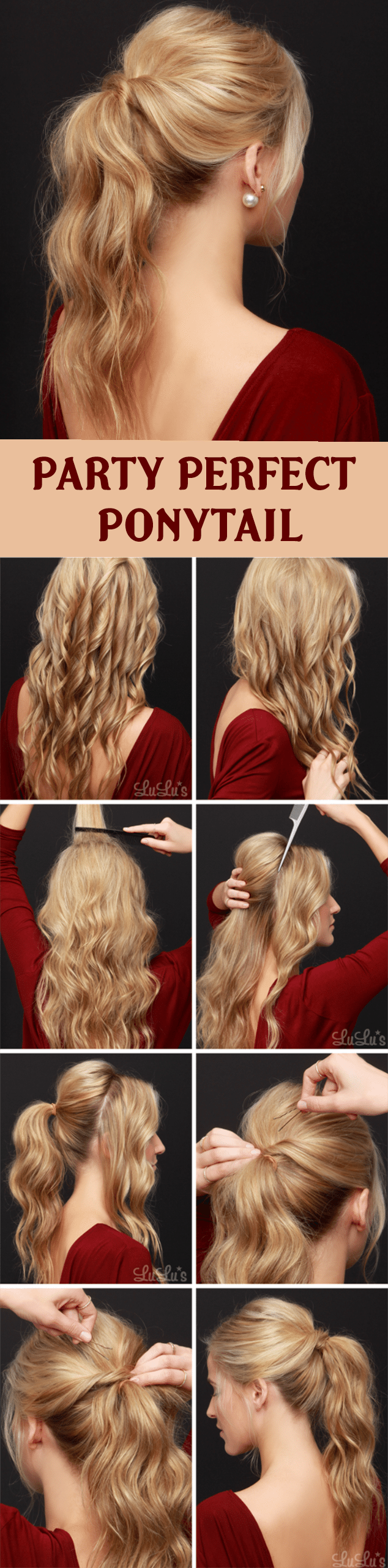 PARTY PERFECT PONYTAIL HAIRSTYLE