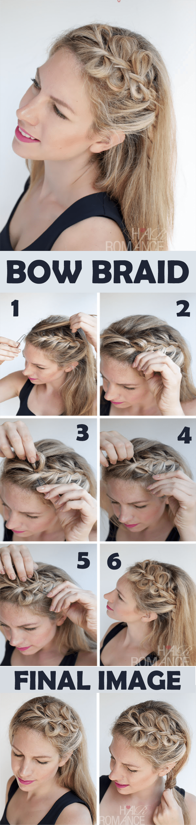 bow braid hairstyle