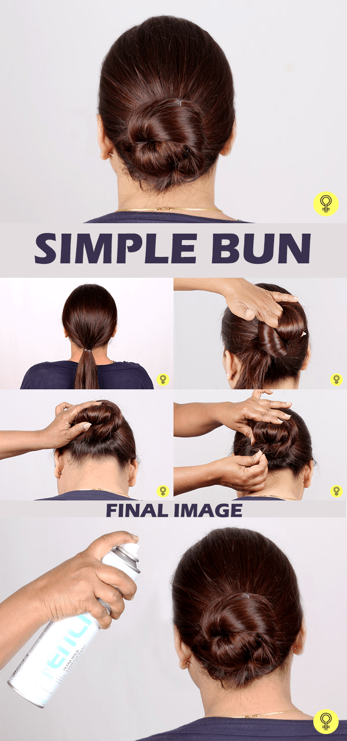 simple bun hairstyle