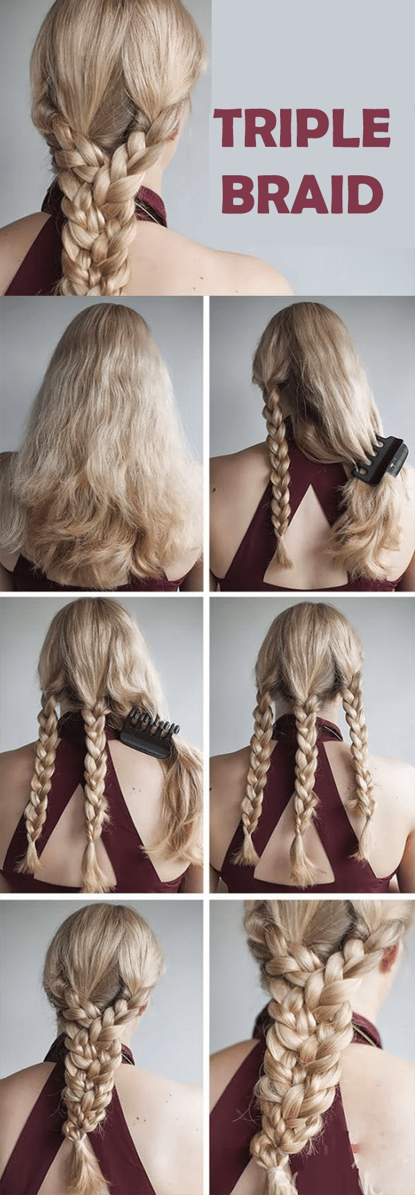 triple braid hairstyle