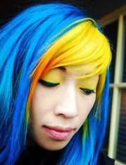 yellow hair dye color spray