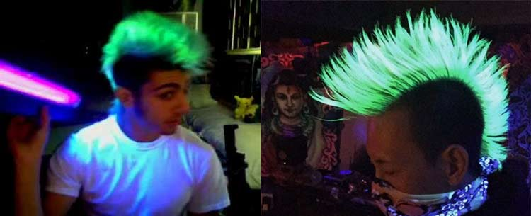 Glow In The Dark Hair Dye Permanent How To Make Manic