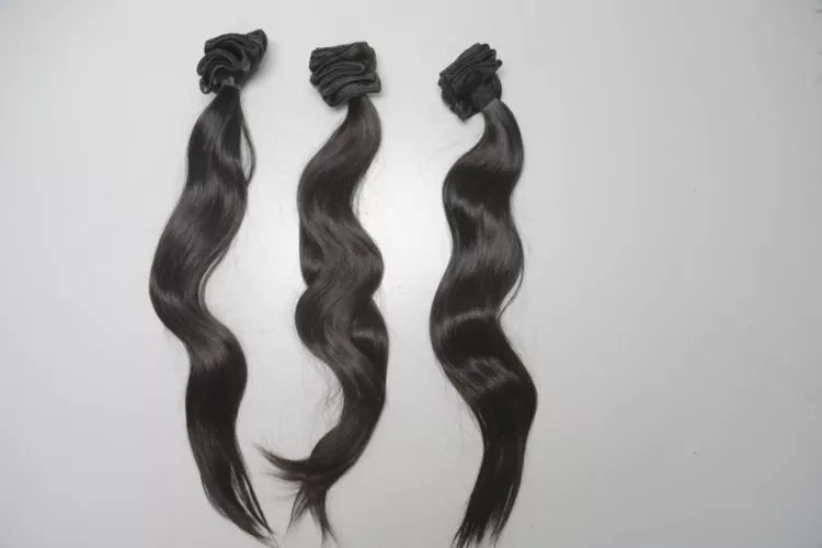 Natural straight Indian temple hair extensions