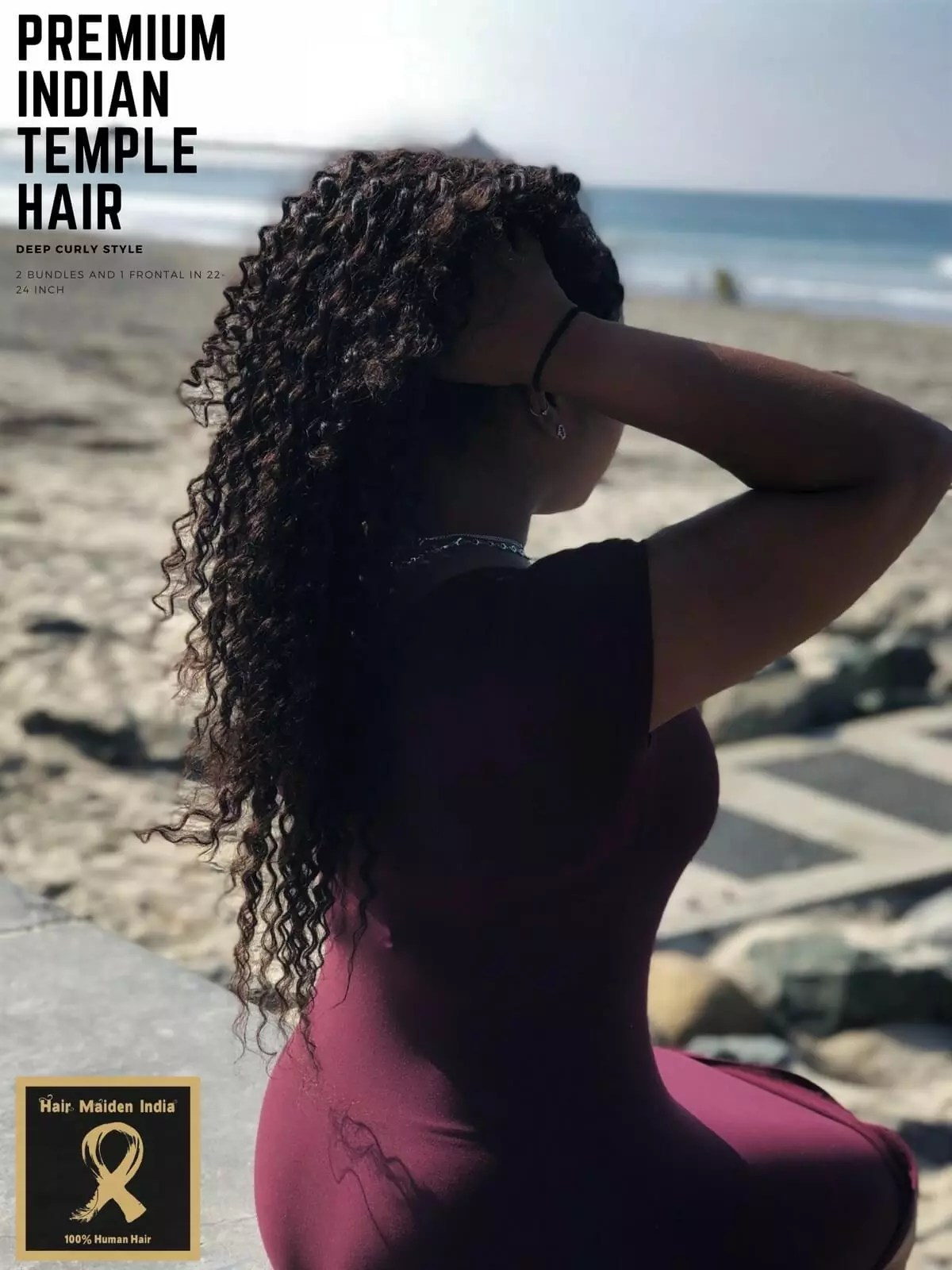 Curly raw hair extensions from India
