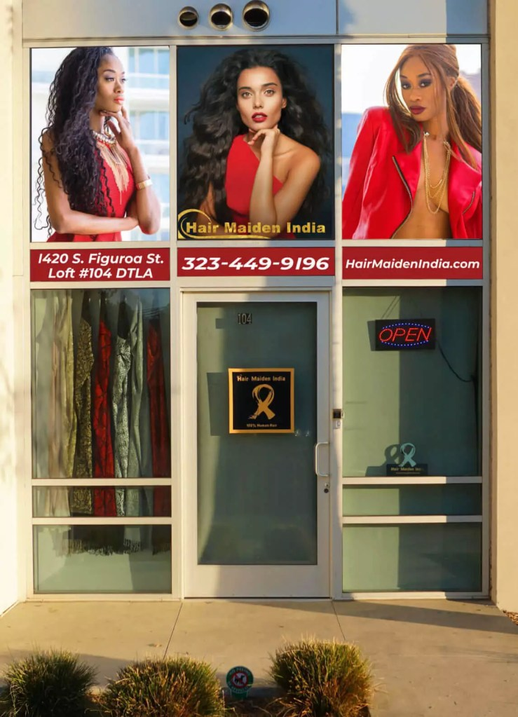 Los Angeles hair extensions store located downtown LA near the staples center