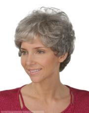 human hair gray short wavy