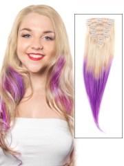 bleach blonde and purple