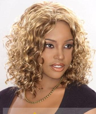 new short curly blonde african american lace wigs for women