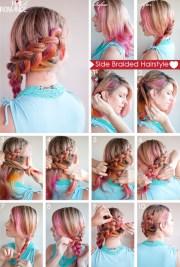 hair side braided hairstyle